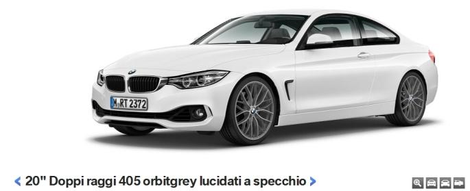 BMW 435 cerchi lega 2014